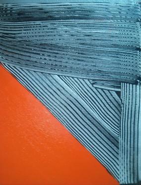 Orange with Grey Stripes