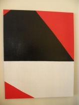 Orange White And Black Study III