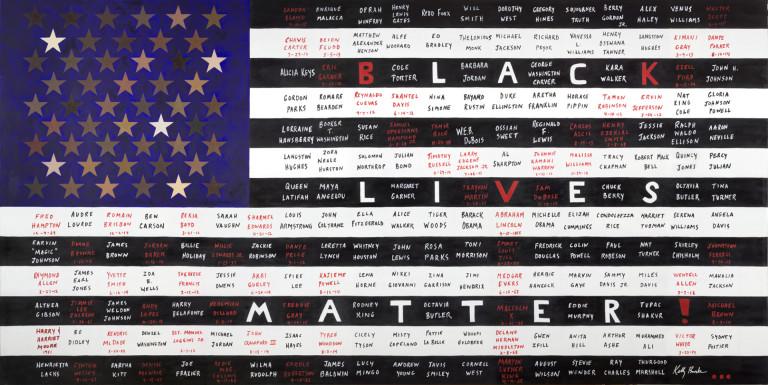 KellyBurke_Black-Lives-Matter-Flag_OilOnCanvas_54x108-768x385