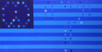 KellyBurke_Reimagined_American_Flag_Series_4_Founded-on-the-Freedom-of:to?_OilonCanvas_USA_6inches_300dpi
